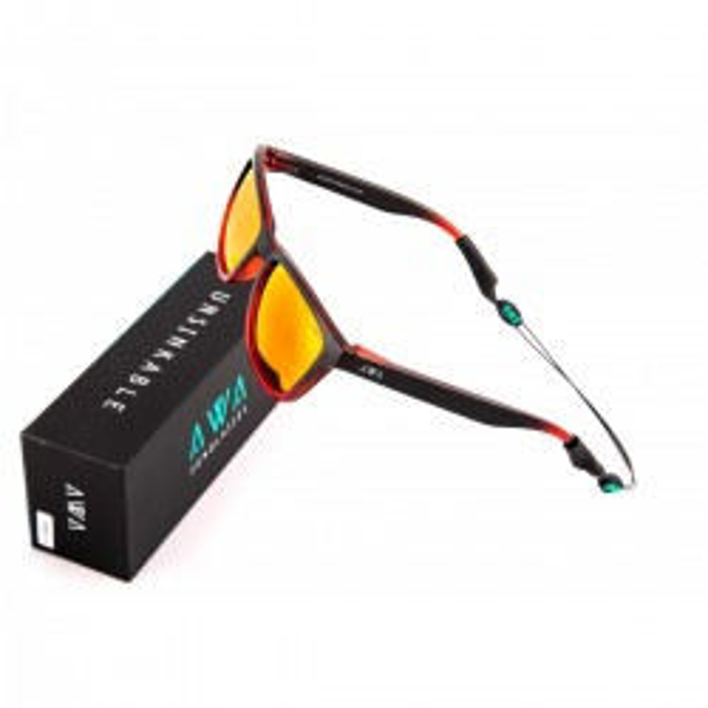 Gafas de sol polarizadas flotantes. Las gafas que flotan. Sotavento - Naranja